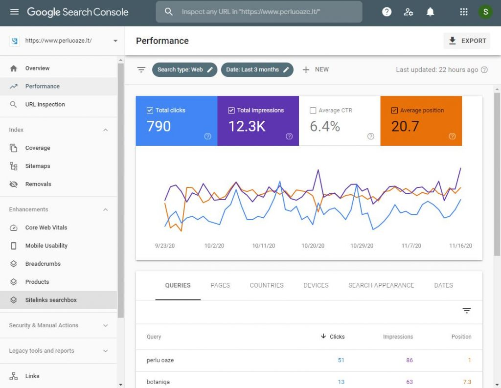 SEO auditas: Google Search Console